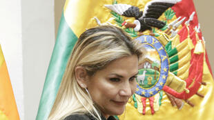 La présidente bolivienne par intérim Jeanine Añez, le 13 mars 2020, au palais présidentiel à La Paz.