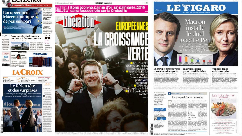 Na resenha da imprensa francesa desta segunda-feira o avanço surpresa dos ecologistas nas eleições para o Parlamento europeu e o recuo dos partidos tradicionais.