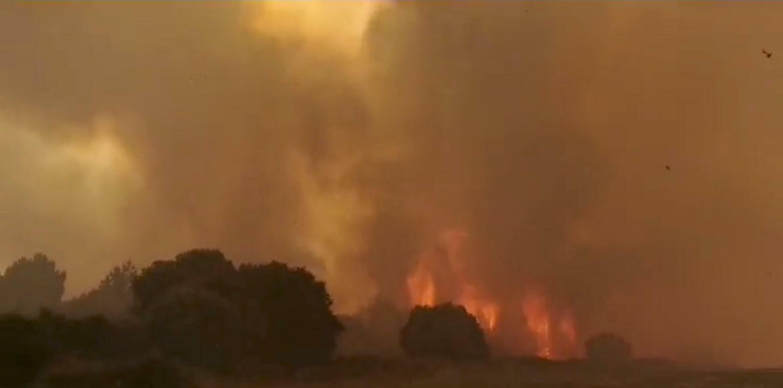 Sardinia fire