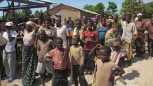 Des personnes déplacées par les violences au Katanga, en RDC.