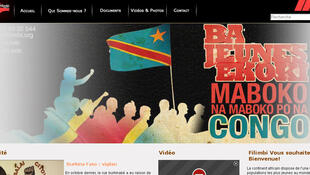 Capture d'écran du site du mouvement congolais Filimbi.