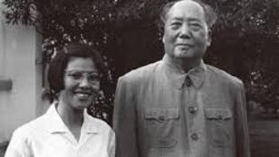 圖為中國網絡刊載王海容與毛澤東舊照