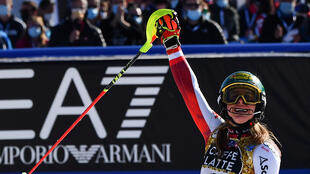 With slalom gold, Katharina Liensberger won her third medal of the world championships