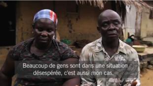 Deux habitants de la communauté de Bodo au Nigéria (Capture d'écran).
