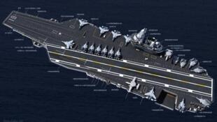 中国网络关于中国自造航母报道图片