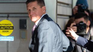 Michael Flynn al llegar al tribunal en Washington el 18 de diciembre de 2018