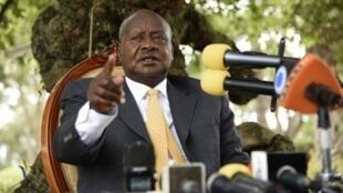 Shugaban Ugandan  Yuweri Museveni.