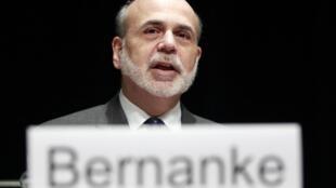 O presidente do FED (Banco Central dos EUA), Ben Bernanke.
