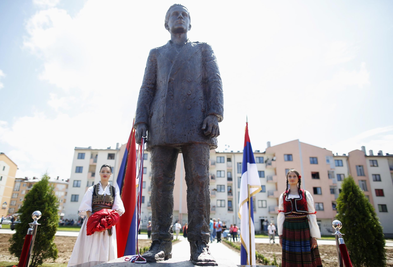 Monumento en honor a Gavrilo Princip, asesino del archiduque, inaugurado en Sarajevo el 27 de junio de 2014.