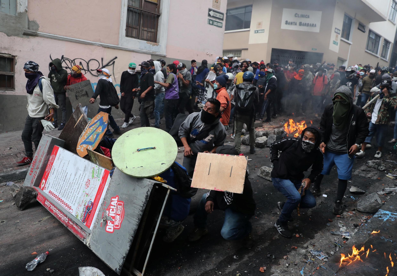 Protestas en Quito, el 9 de octubre de 2019.