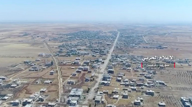 Vue aérienne de la province de Deraa, en Syrie. Image extraite d'une vidéo obtenue le 6 juillet 2018.
