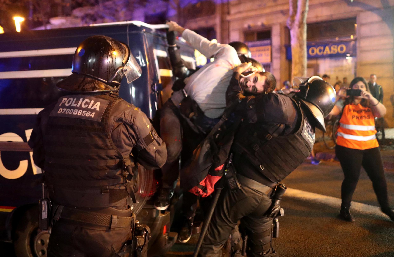 Задержание на акции протеста в Барселоне