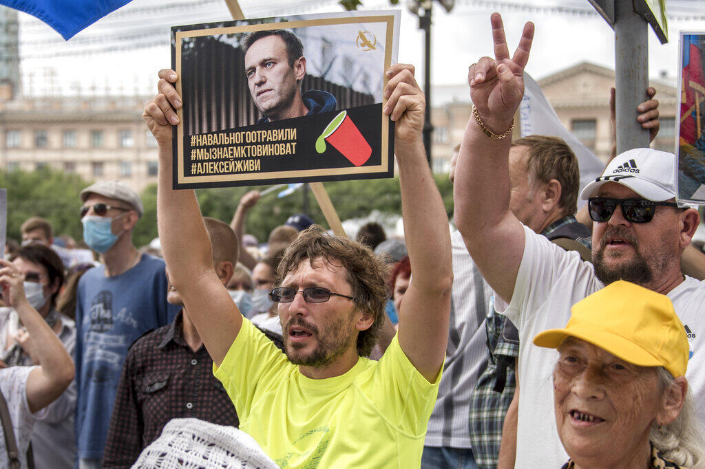 2020-09-14 russia Alexei Navalny opposition protest poison