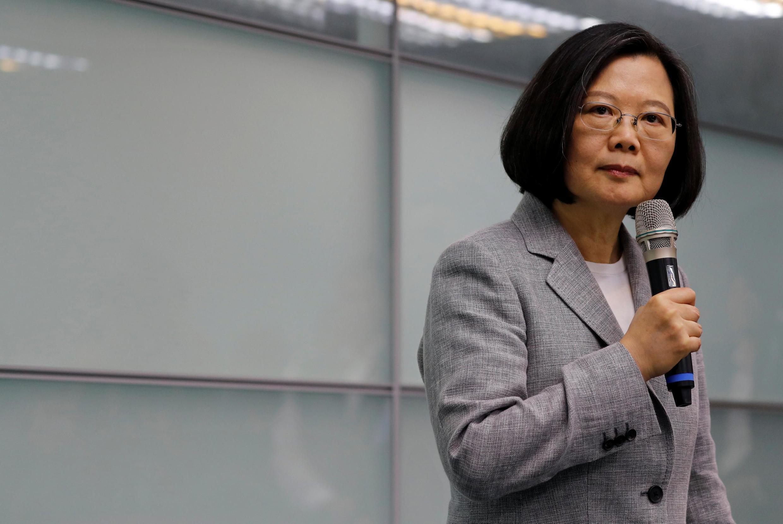 台湾现总统蔡英文资料图片