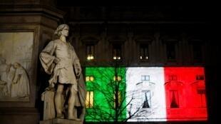 意大利Covid-19疫情最严重地区之一,米兰的马里诺宫2020年3月20日。