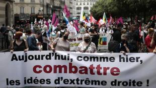Manifestaçao Paris Manif Paris contre extreme droite