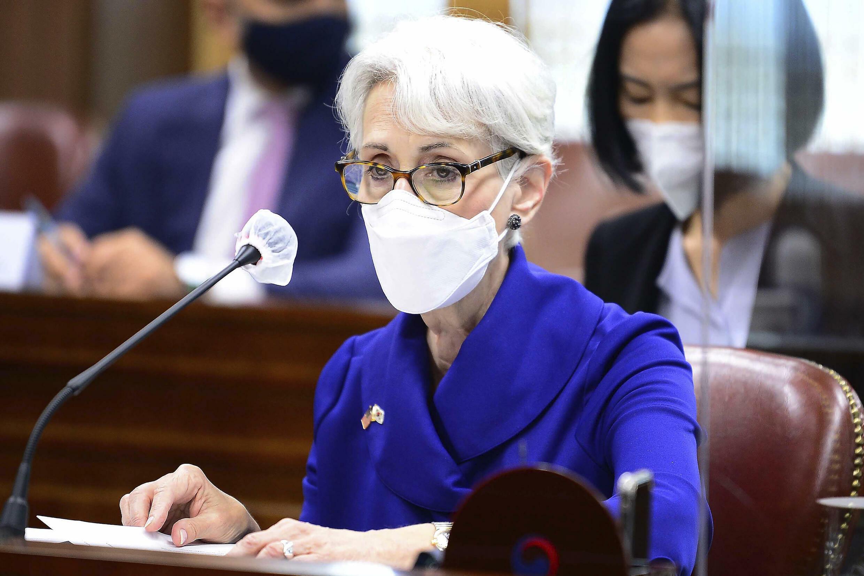 Thứ trưởng Ngoại Giao Mỹ Wendy Sherman trong chuyến công du Hàn Quốc ngày 23/07/2021.