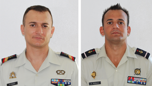 2 French NCOs, Sébastien Pissot (L) and Stéphane Moralia, were killed during a clash with illegal gold panners in the French Guiana