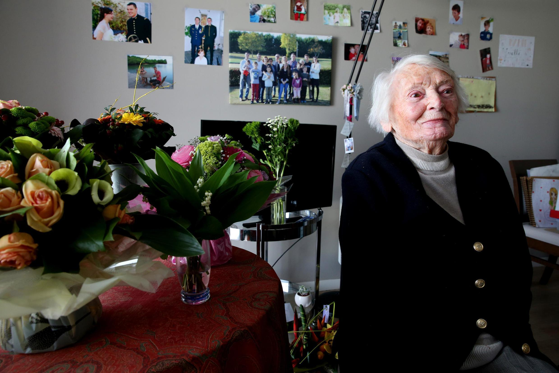 Иветт Ланди, участница движения Сопротивления, прошедшая через нацистские концлагеря