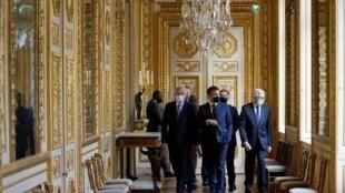 Président Emmanuel Macron lors de l'inauguration de l'Hôtel de la Marine, le 10 juin 2021.  © François Mori / Pool / AFP