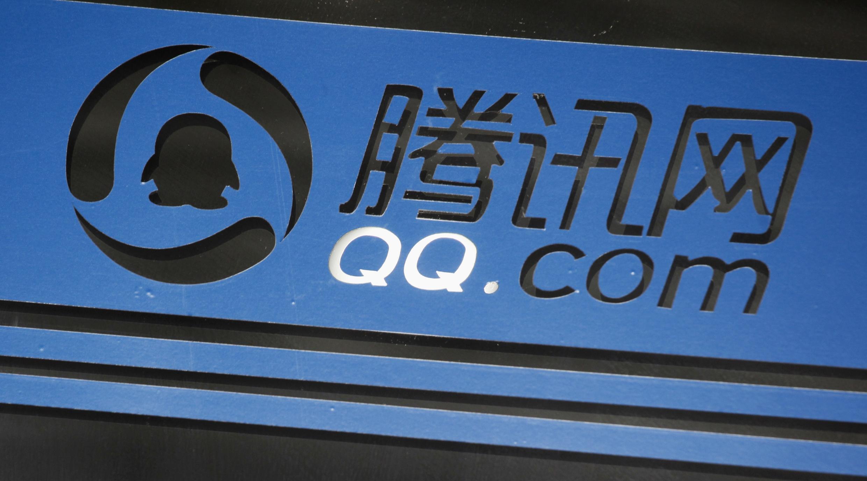 Logo của Tencent QQ, công ty internet số một tại Trung Quốc, trụ sở chính ở Thẩm Quyến. Ảnh chụp ngày 09/06/2011.