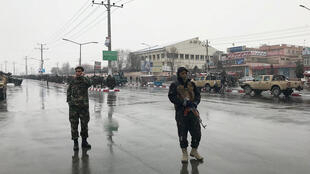Afghan security forces patrolling the streets in Kabul