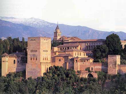 La Alhambra en Granada (España).