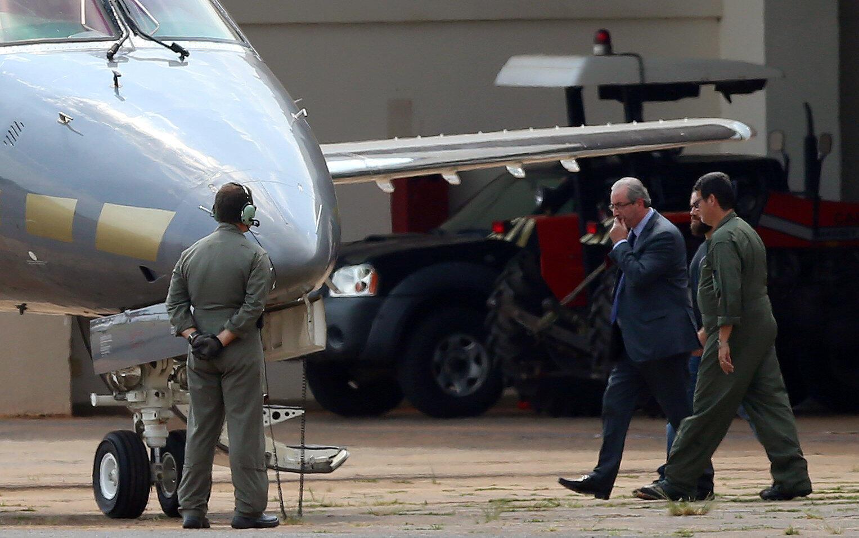 Eduardo Cunha a été arrêté et escorté par la police en direction de Curitiba, dans le sud du pays, ce mercredi 19 octobre.