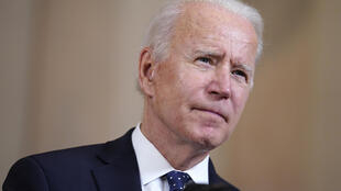 Le président américain Joe Biden, lors d'une conférence de presse à la Maison Blanche, le 20 avril 2021.