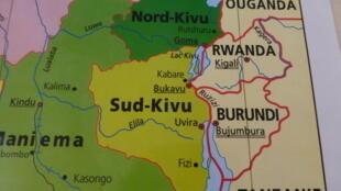 剛果(金)東部)南基伍(Sud-Kivu)地理圖
