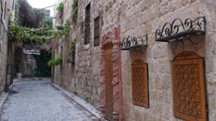 شهر قدیم حلب که به تازگی ارتش سوریه از شورشیان این کشور پس گرفت