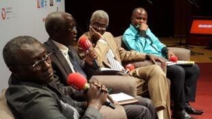 Amadou Diaw, Ibrahima Thioub, Souleymane Bachir Diagne et Carlos, nos invités
