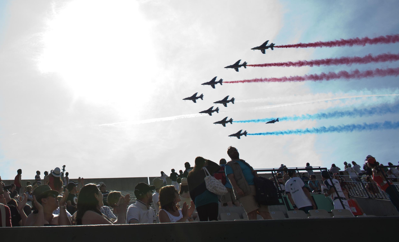 «Французский патруль»  над кортами Ролан-Гаррос (открытие турнира) , 27 мая 2012 года