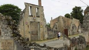 The ruins of Oradour-sur-Glane, preserved in memory of those who were killed.