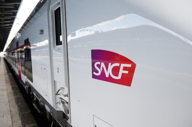 Logo of SNCF, France's state-owned rail operator.