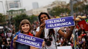 Biểu tình chống ứng viên tổng thống cực hữu Jair Bolsonaro tại Sao Paulo, Brazil, ngày 29/09/2018