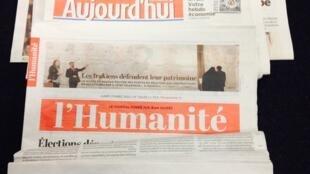 Primeiras páginas dos diários franceses 3/03/2015