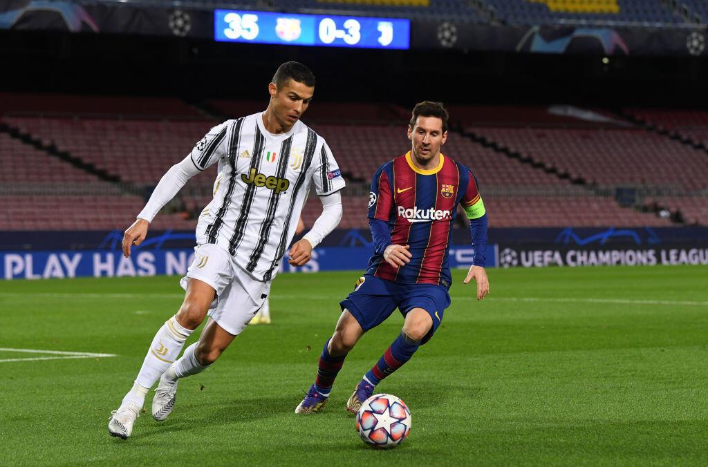 Cristiano Ronaldo da Lionel Messi yayin fafatawa tsakanin Juventus da Barcelona a wasan gasar zakarun Turai