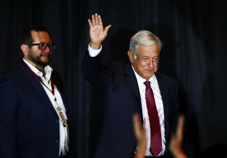 Andrés Manuel Lopez Obrador sau chiến thắng tối 01/07/2018.