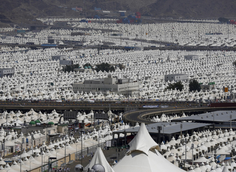 A cidade de Mina, perto de Meca, onde aconteceu o tumulto, no dia  24 de setembro de 2015.