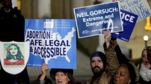 Manifestação contra a nomeação do juiz Neil Gorsuch para a Suprema Corte americana. Washington, 31/01/2017