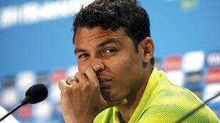 O capitão da seleção brasileira, Thiago Silva.