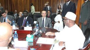 Réunion de travail entre le président IBK et la délégation du Conseil de sécurité de l'ONU, à Bamako, le 2 février 2014.