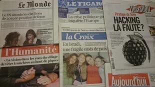 Primeiras páginas jornais 29/12/2014