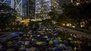 Les salariés du secteur financier de Hong Kong se sont joints au mouvement de protestation qui agite le territoire semi-autonome, le 1er août 2019.