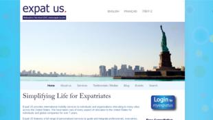Page d'accueil du site d'Expat Us.