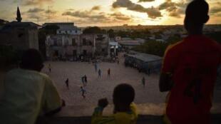 Mmoja wa uwanja wa soka katika mji wa Mogadishu nchini Somalia