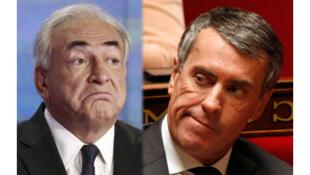 Dominique Strauss-Kahn (g) et Jérôme Cahuzac. <br>(Montage photo RFI)
