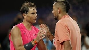 Rafael Nadal (left) has criticised the attitude and behaviour of Nick Kyrgios (right) on a tennis court.