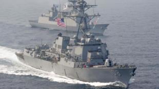 """美海军阿利·伯克级 """"韦恩·梅耶号""""(Wayne E. Meyer)导弹驱逐舰资料图片"""